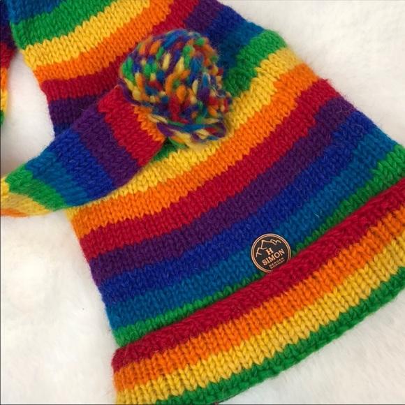 Simon Bergen Norway Hand Knit Wool Stocking Cap 🌈.  M 5b797f8cf41452b0cdd579ed 98ec0440f1f